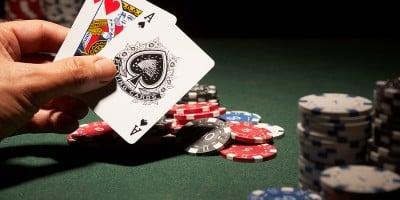 Hand showing Blackjack or 21