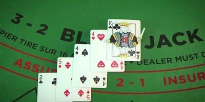 Example of bust in blackjack